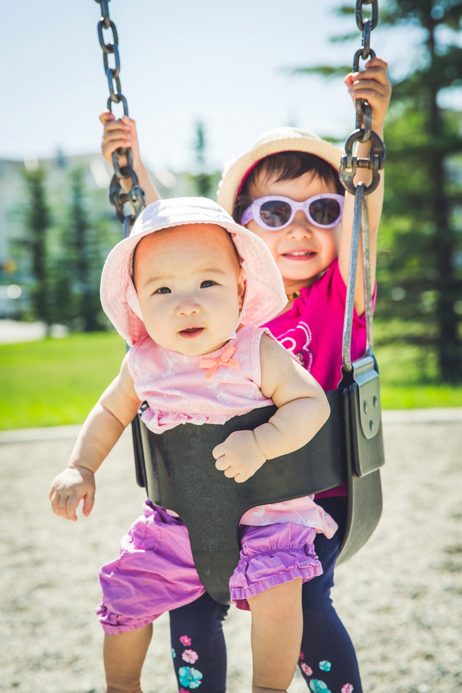 sisters in swing calgary family photography