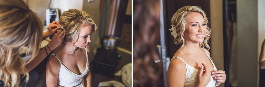 hair florals acclaim hotel calgary wedding bride getting ready