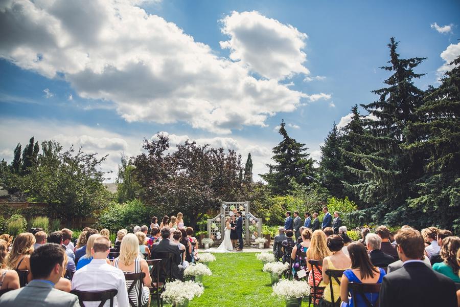 Bride Groom Ceremony Calgary Zoo Wedding Summer