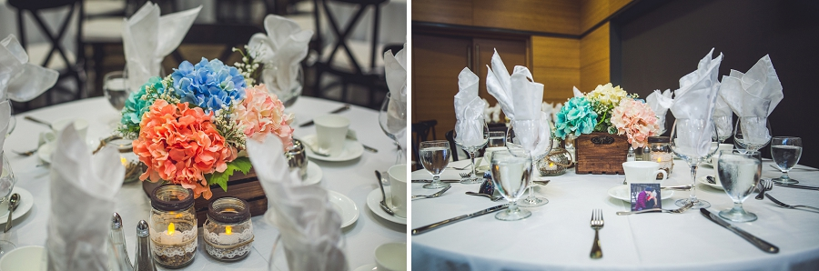 calgary zoo summer wedding pastel table decorations
