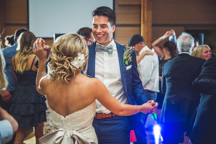 bride groom dancing reception calgary zoo summer wedding
