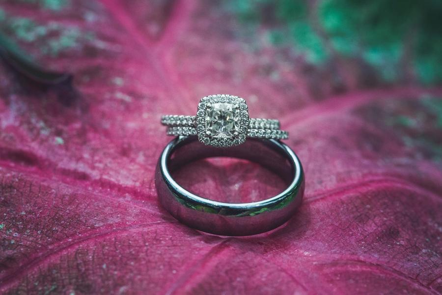 wedding rings calgary zoo summer wedding
