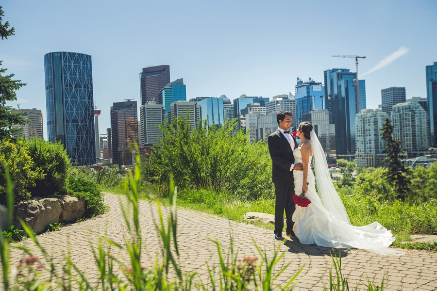 calgary wedding rotary park bride groom international wedding