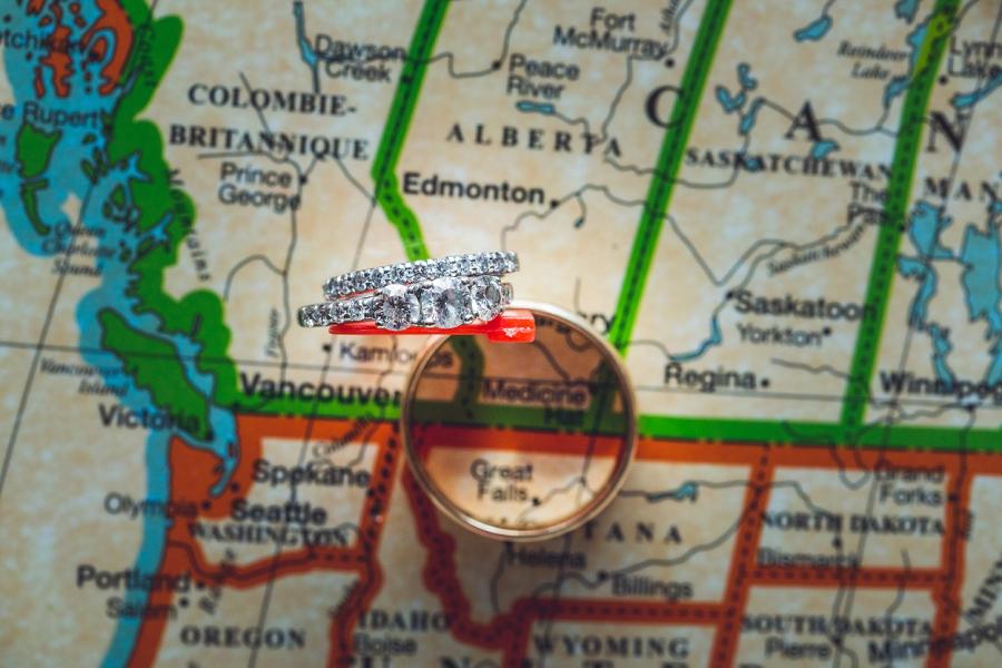rings on map calgary zoo wedding