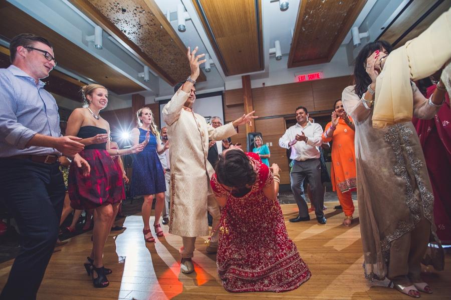 bride groom on dancefloor