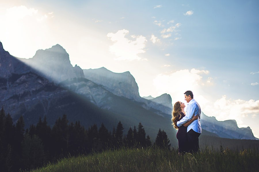 Kinga + Bill | Quarry Lake Canmore Engagement Session