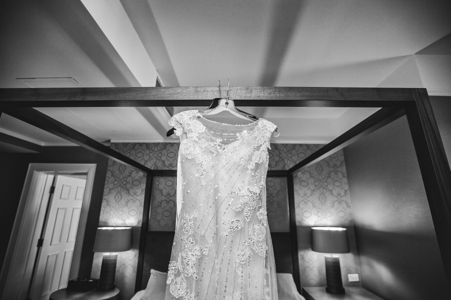 fairmont palliser calgary wedding black and white wedding dress