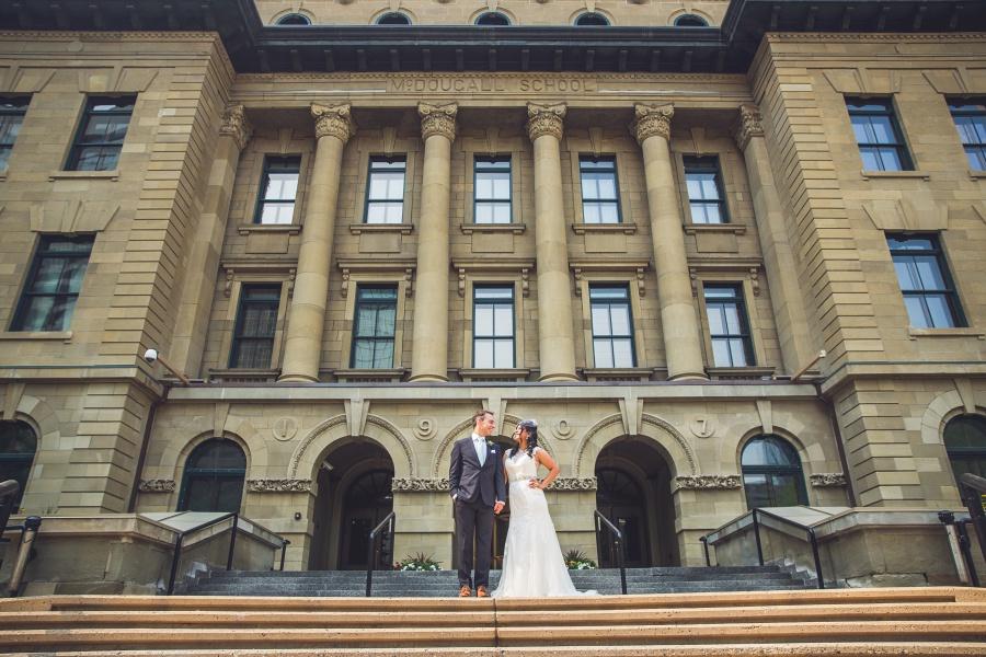 mcdougall centre calgary wedding party bride groom