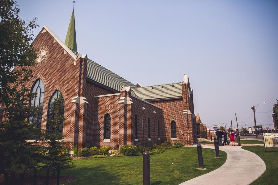 sacred heart church calgary wedding summer