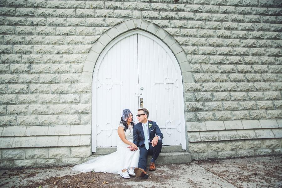 reader rock garden white stone wall white door bride groom calgary wedding