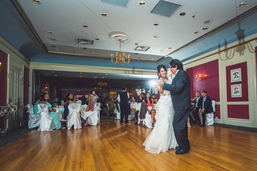 bride father first dance fairmont palliser calgary wedding reception