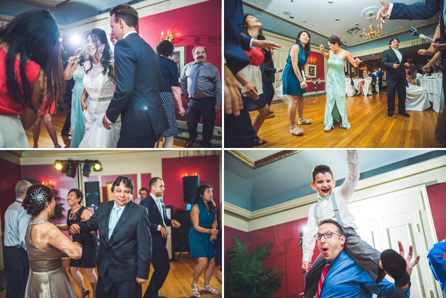 wedding party dancing fairmont palliser calgary wedding reception
