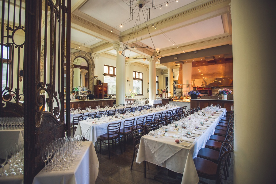 Teatro Restaurant Calgary Wedding long wedding tables