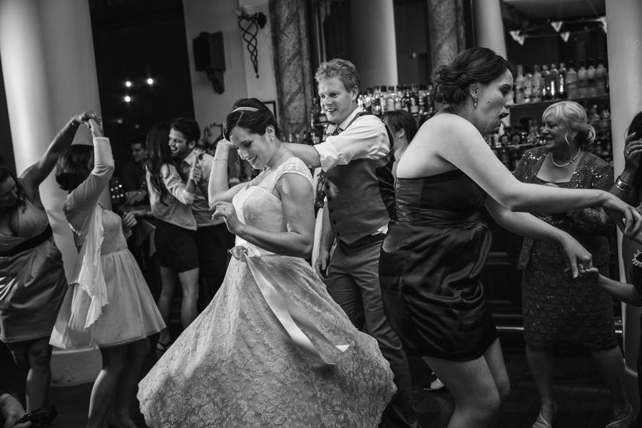 bride groom dancing Teatro Restaurant Calgary Wedding
