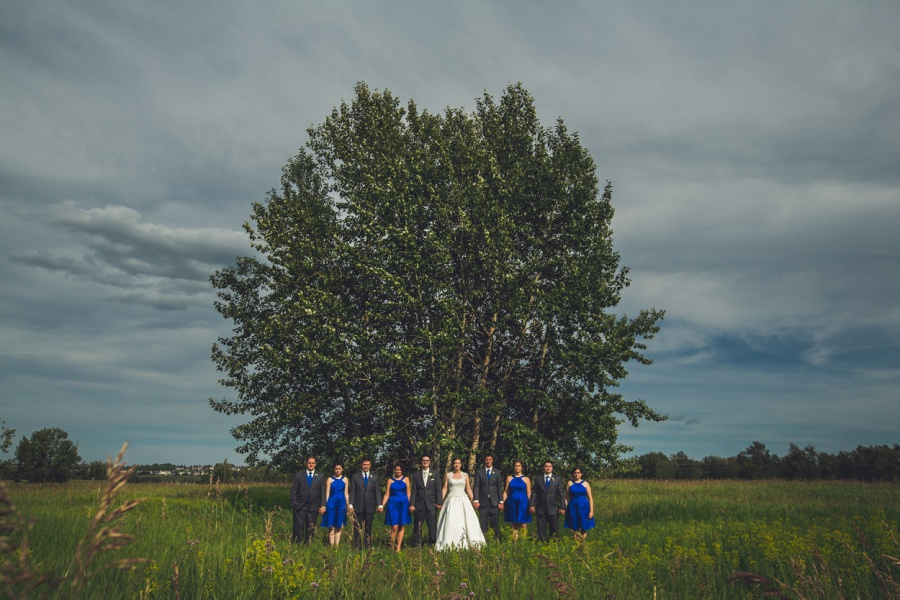 stormy skies calgary latin wedding photographer bride with groom and bridal party