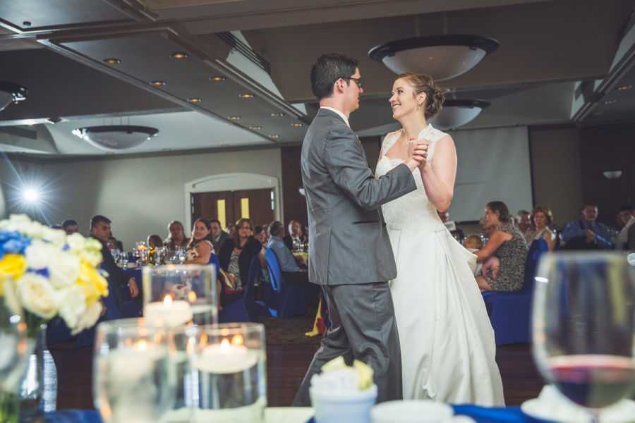 calgary latin wedding photographer carriage house inn first dance bride groom