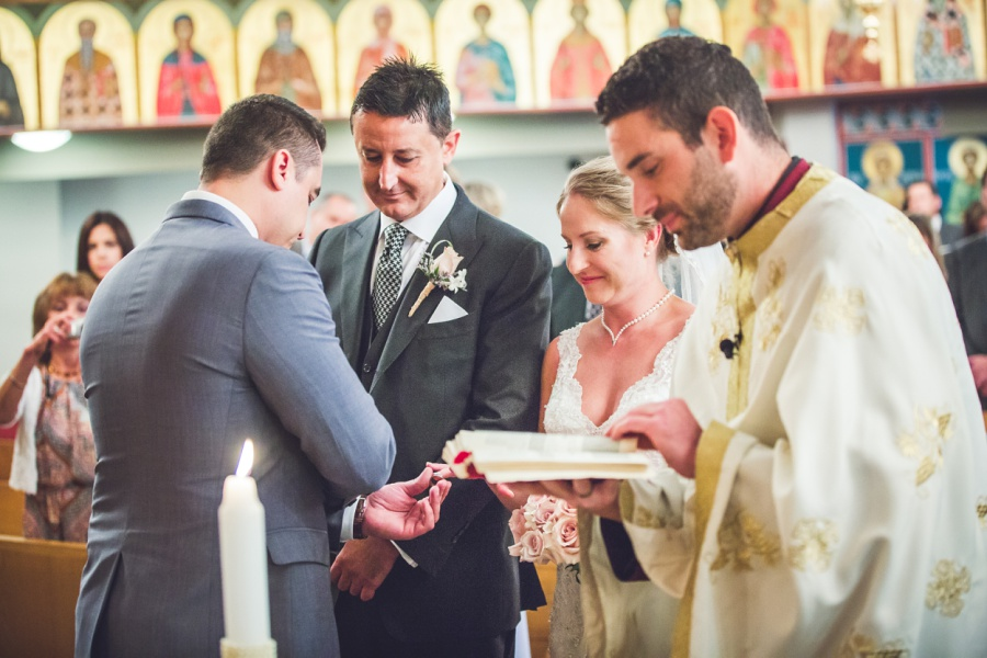 St. Demetrios Greek Orthodox Church calgary wedding ring exchange