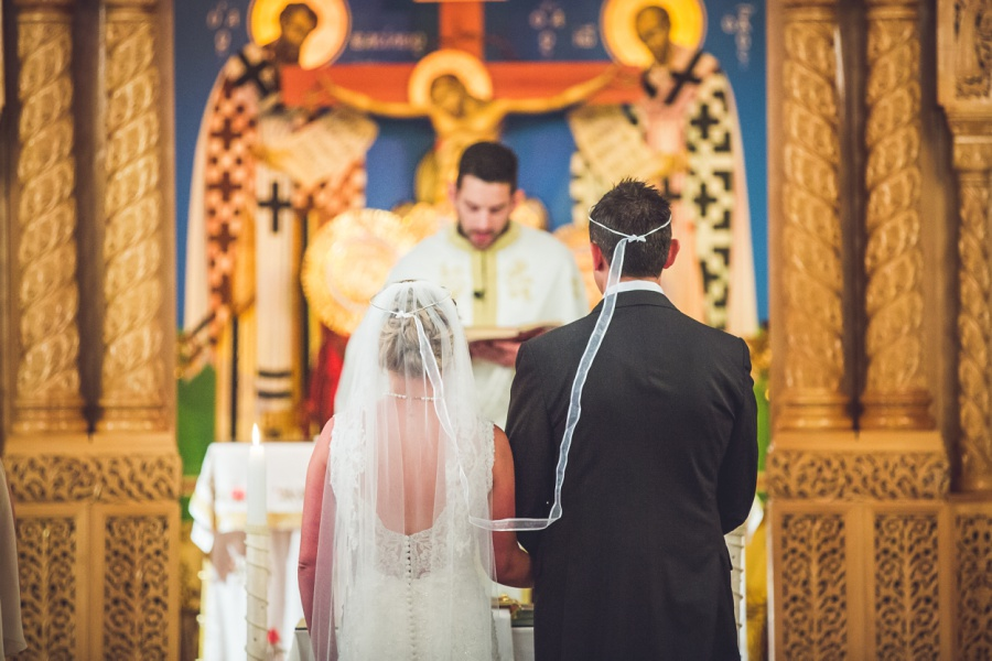 St. Demetrios Greek Orthodox Church calgary bride groom halos