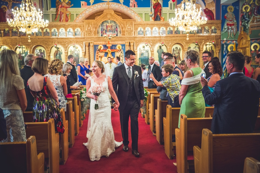 St. Demetrios Greek Orthodox Church calgary bride groom processional
