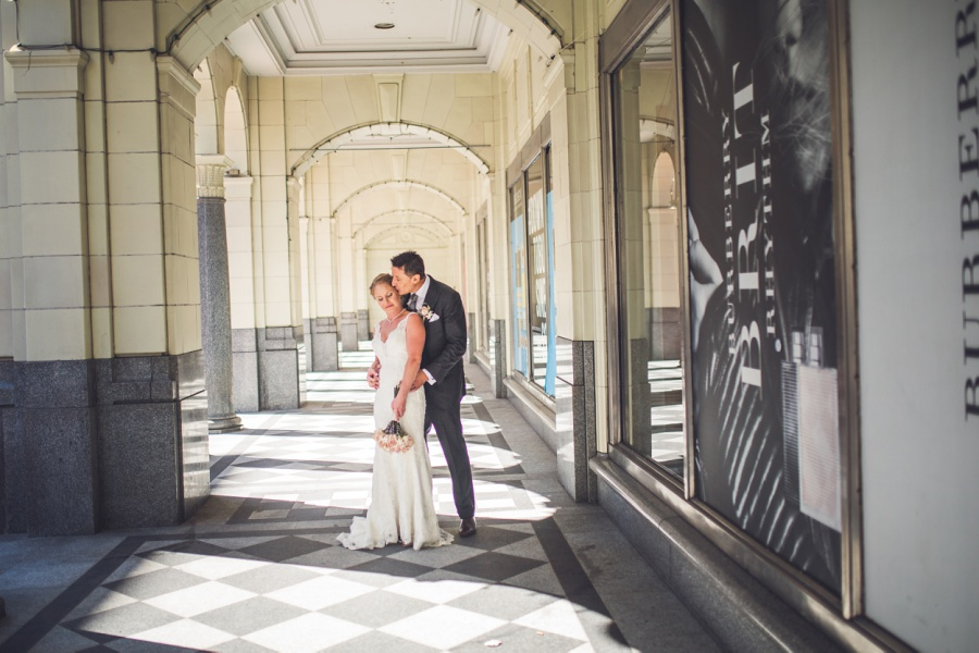 calgary wedding photographer stephen ave the bay downtown archways