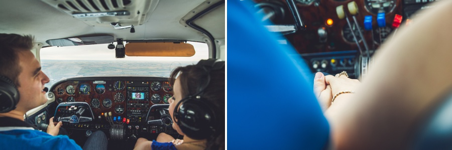 small private plane engagement photos calgary