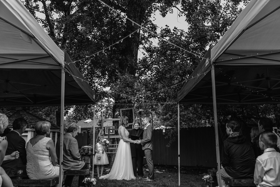 tent wedding calgary backyard wedding