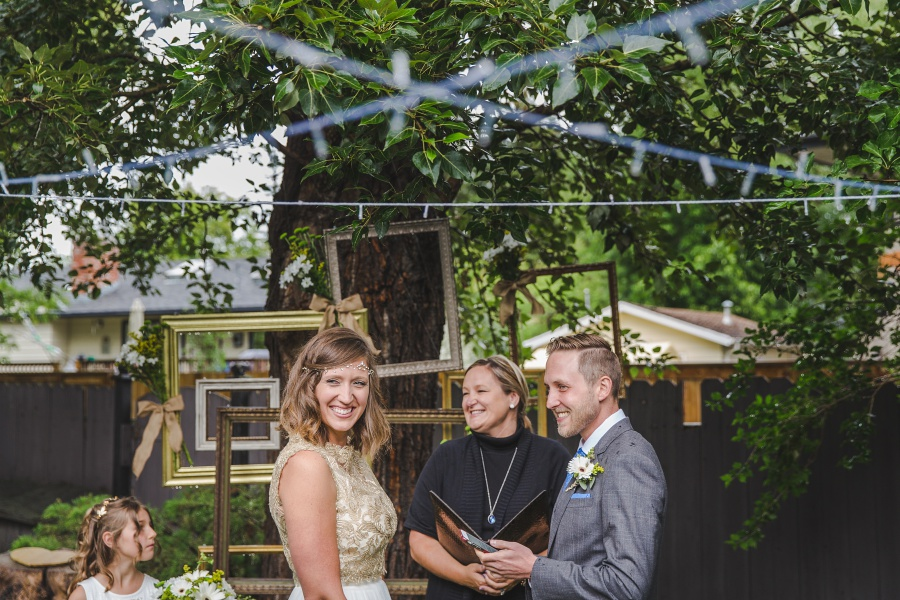 Tara + Graham | Calgary Backyard Wedding