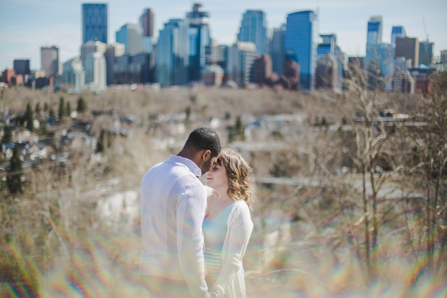 Sarra + Boneto | Calgary Starbucks Engagement Photos
