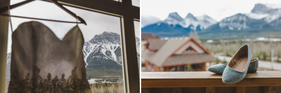 Winter Mountain Canmore Wedding Teal Flats
