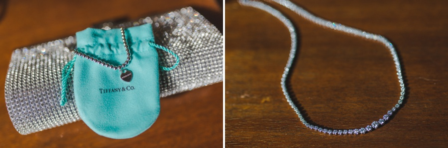 Tiffany & Co. Necklace and Bracelet Winter Mountain Canmore Wedding
