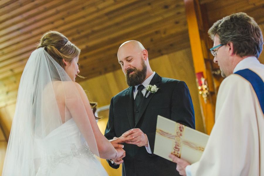 ring exchange Winter Mountain Canmore Wedding