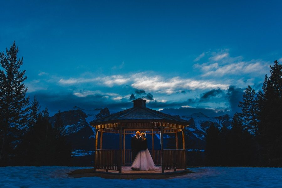 Winter Mountain Canmore Wedding