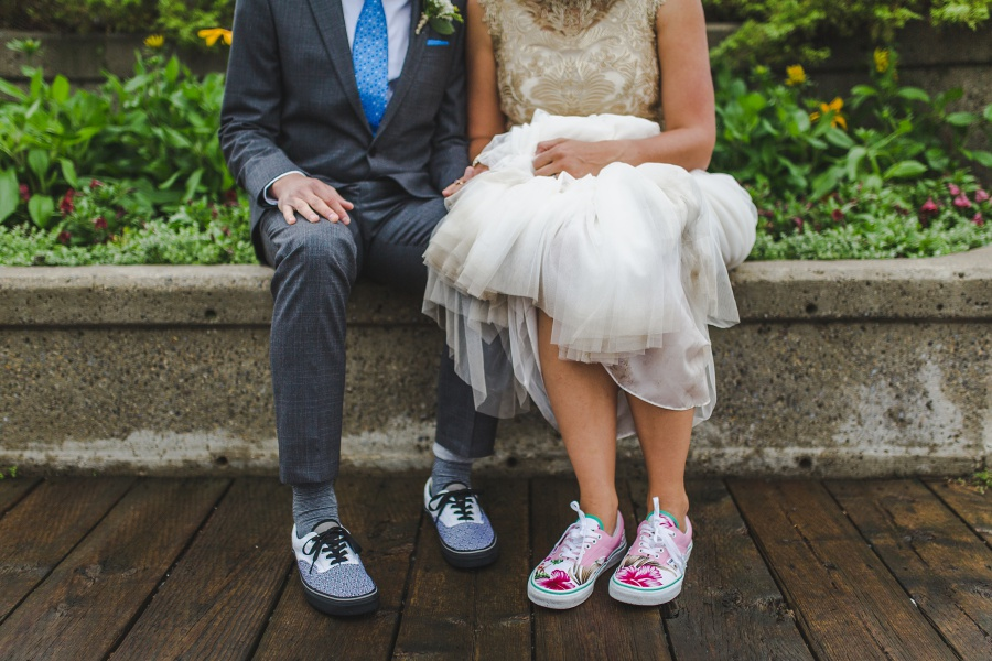 sneakers wedding shoes calgary backyard wedding