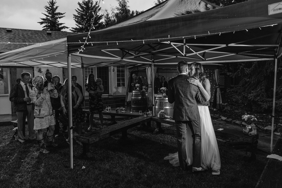 first dance wedding tent calgary backyard wedding