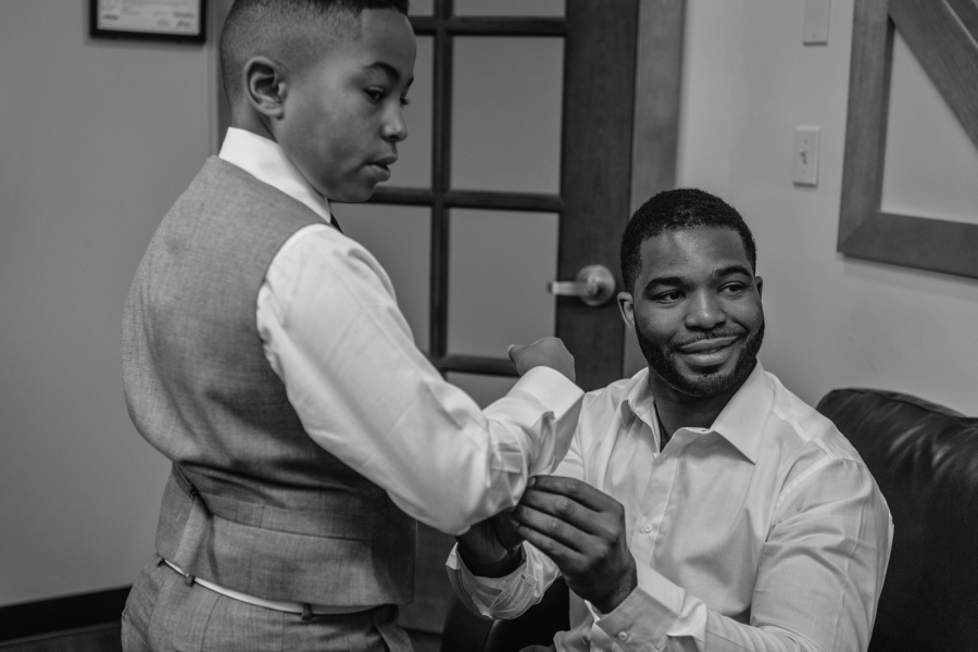 groom and son getting ready cochrane ranchehouse wedding calgary