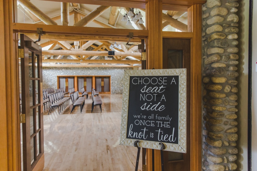 cochrane ranchehouse wedding calgary chalkboard sign