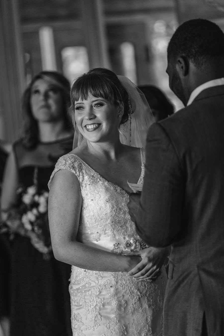 cochrane ranchehouse wedding calgary bride smiling