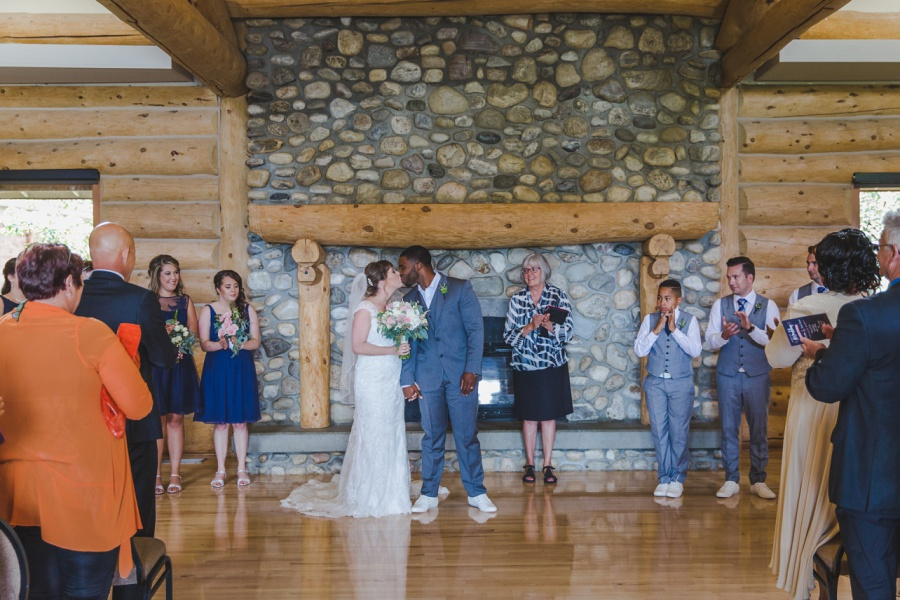 cochrane ranchehouse wedding calgary first kiss