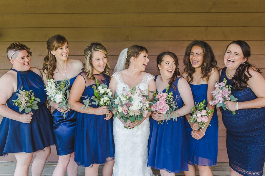 bride bridesmaids navy blue dress cochrane ranchehouse wedding calgary