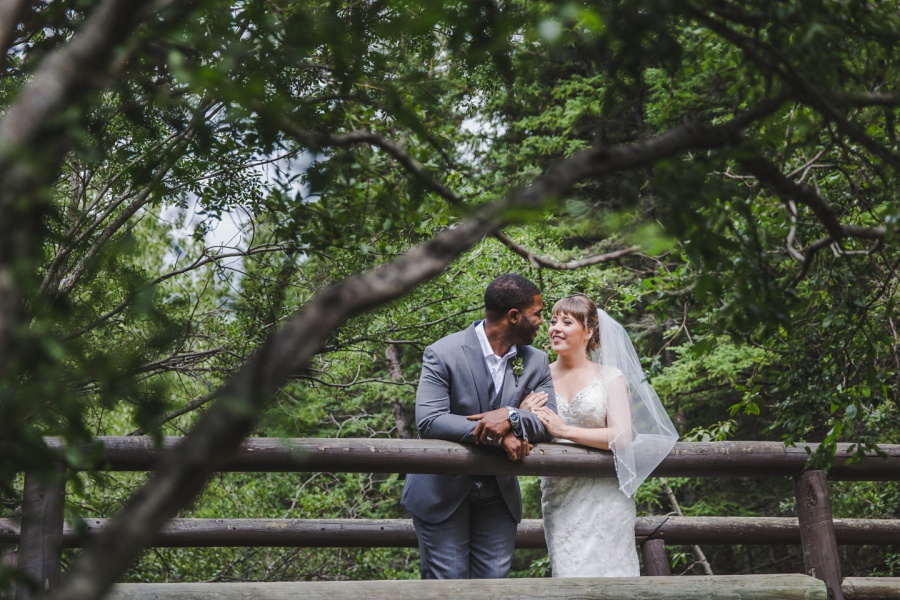 bride groom forest grey suit veil cochrane ranchehouse wedding calgary