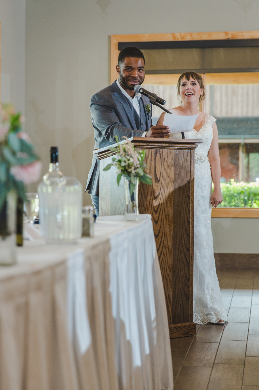 bride and groom speech cochrane ranchehouse wedding calgary