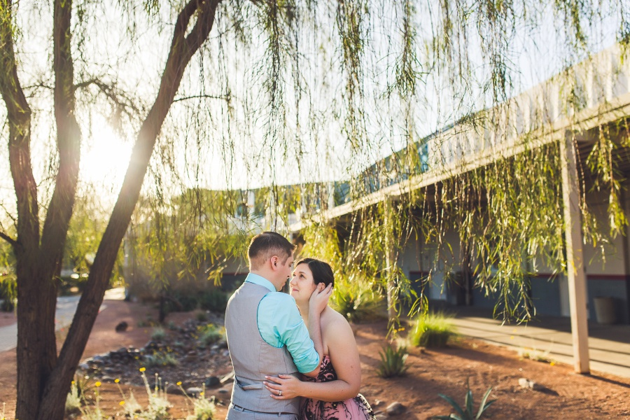 las vegas elopement university of nevada bride pink dress