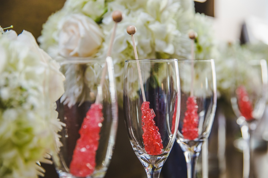 Le Germain Calgary Wedding rock candy champagne toast