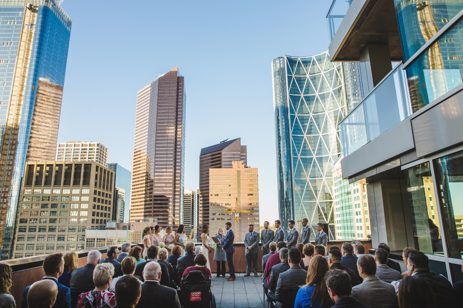 Marijana + Tyler | Le Germain Calgary Rooftop Wedding