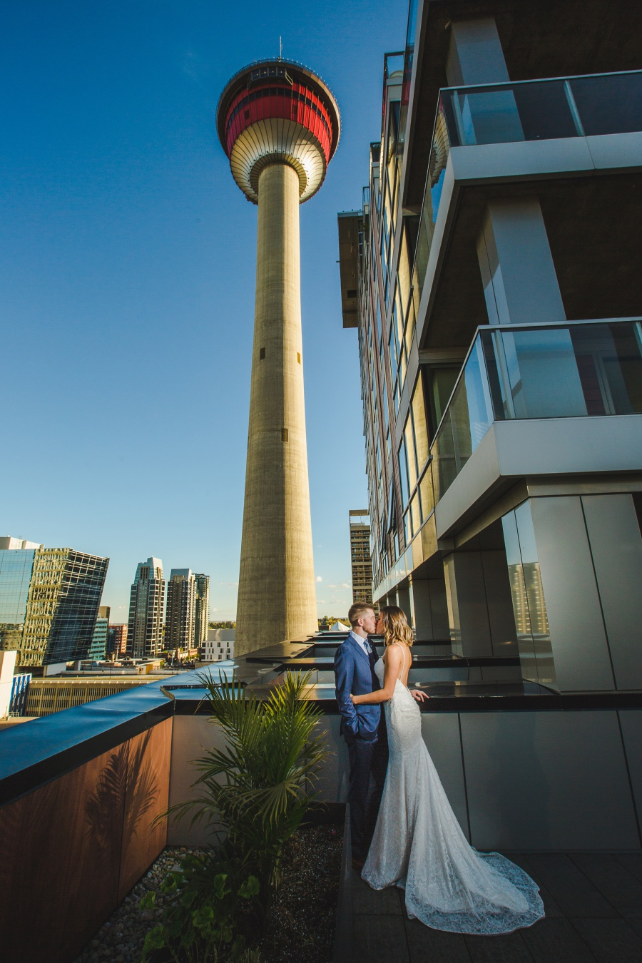 Le Germain Calgary Rooftop Wedding calgary tower