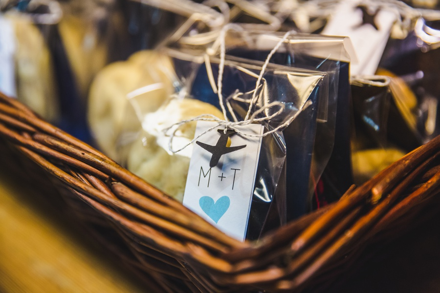 eat trattoria Calgary Rooftop Wedding cookie wedding favors