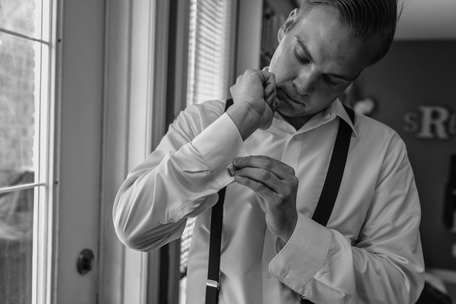 custom cufflinks groom getting ready calgary wedding