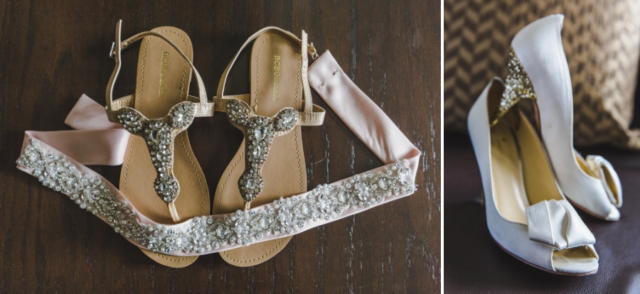 beaded sash white sparkly heels calgary wedding bridal shoes