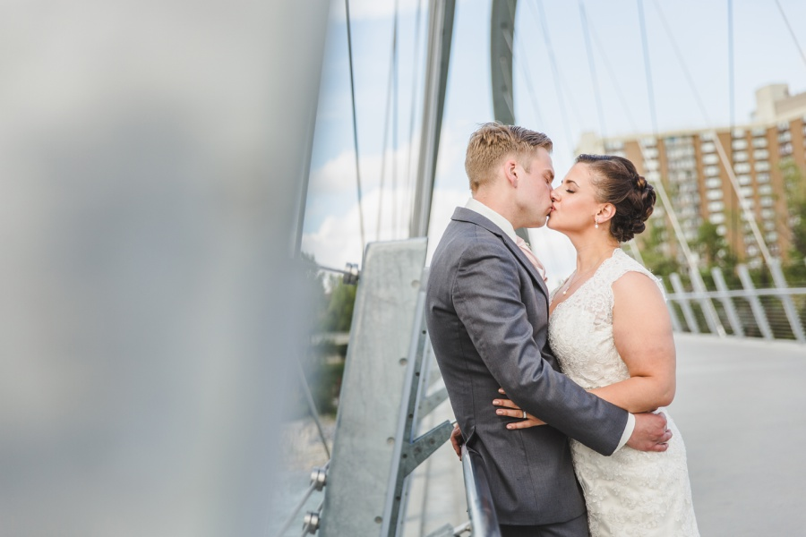 calgary wedding photographer east village bridge
