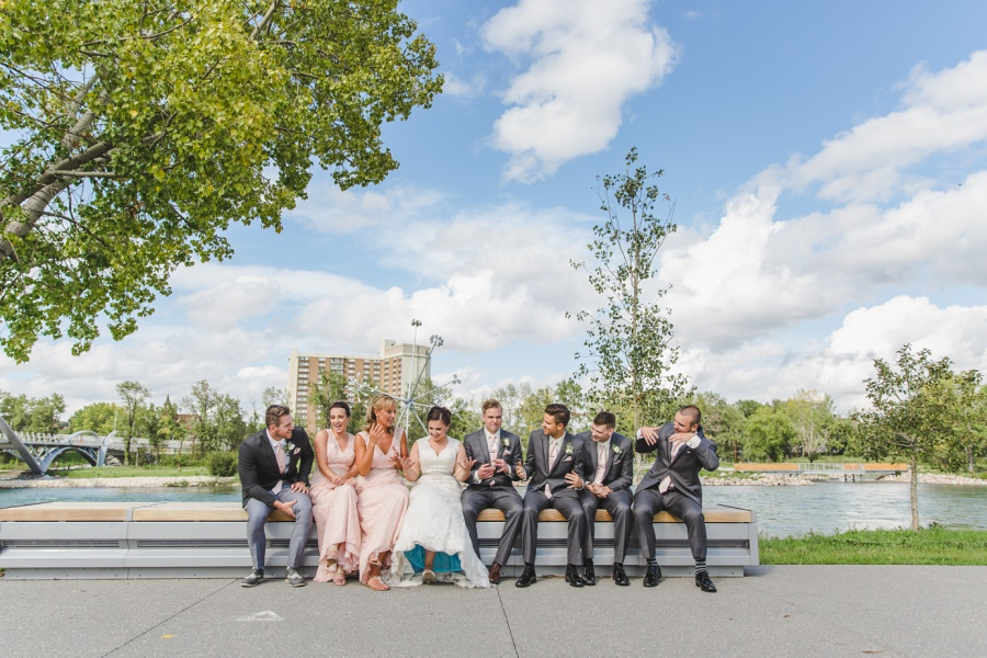 calgary wedding photographer bridal party east village